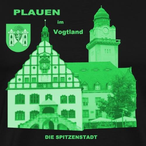 Plauen Vogtland Spitze Rathaus Wappen - Männer Premium T-Shirt
