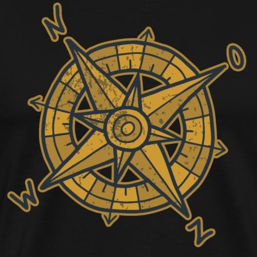 compas dark - Mannen Premium T-shirt