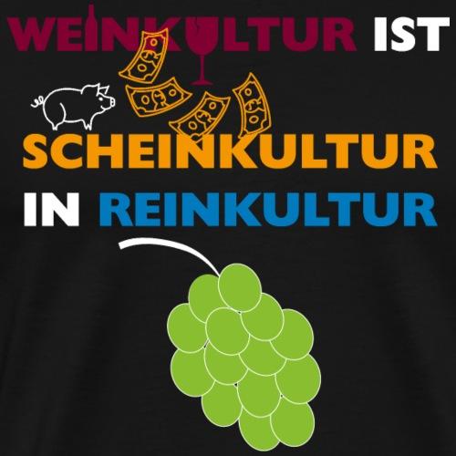 Weinkultur … (für dunklen Hintergrund) - Männer Premium T-Shirt