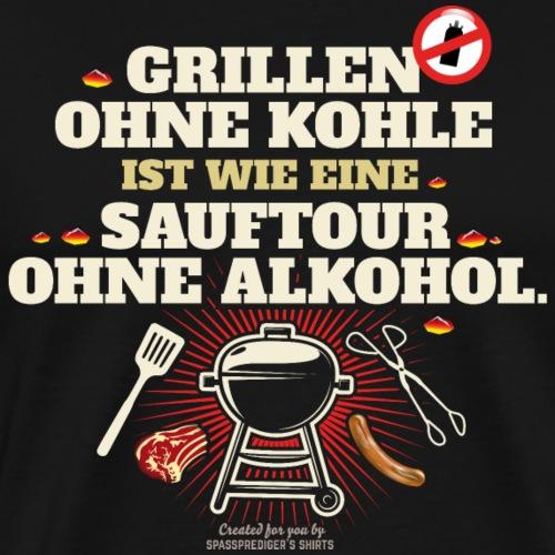 Grillen ohne Kohle Button - Männer Premium T-Shirt