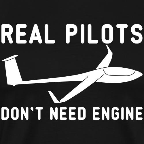 Segelflieger Segelflugzeug Weihnachten Geschenk - Männer Premium T-Shirt