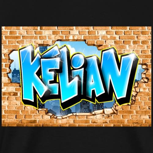 Graffiti Kélian Mur Cassé - T-shirt Premium Homme