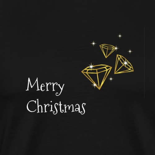 Merry Christmas diamond - Männer Premium T-Shirt