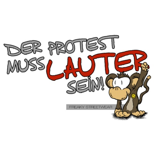 Protest-Äffchen1 - Männer Premium T-Shirt