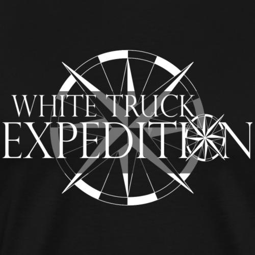 Expeditions LOGO mit nordpfeil Klein Weiss - Männer Premium T-Shirt