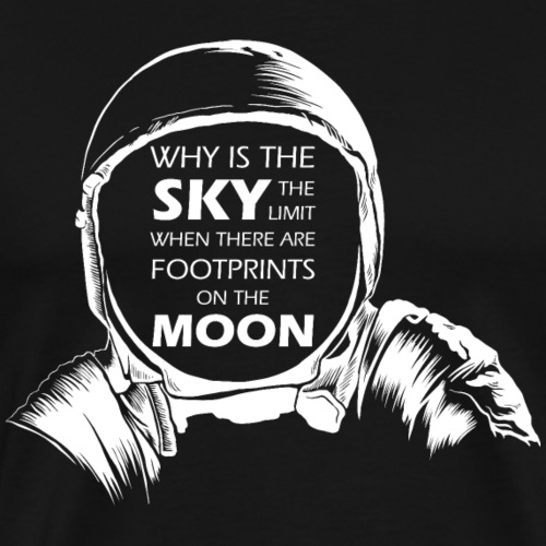 Astronaut - Footprints on the Moon - Männer Premium T-Shirt