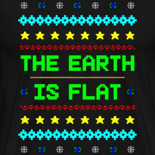 Earth is flat Ugly Christmas - Männer Premium T-Shirt