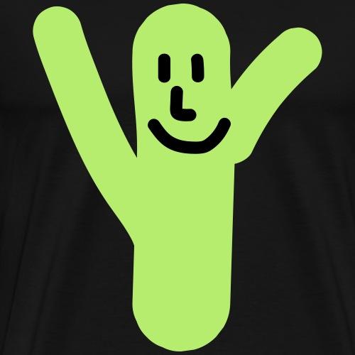 Kaktus Gesicht - Männer Premium T-Shirt