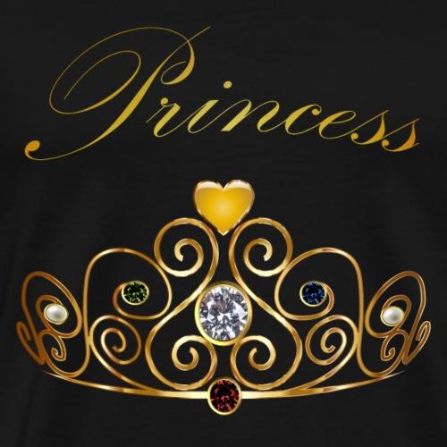 Princess Queen Gold Krone Tiara Edelsteine Perlen