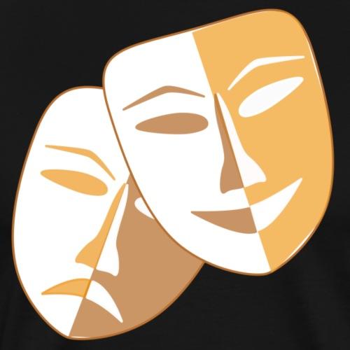 Masken zu Fasching - Männer Premium T-Shirt