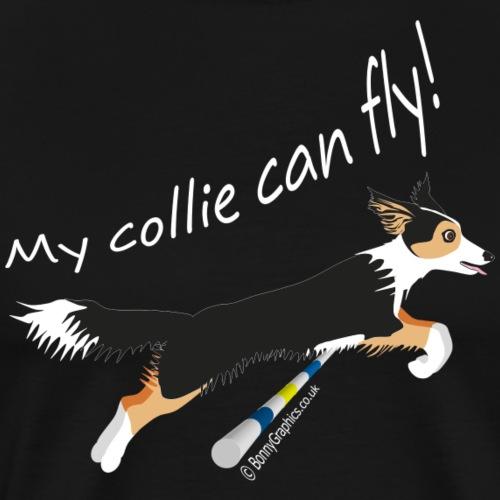 Collie can fly tricolour - Men's Premium T-Shirt