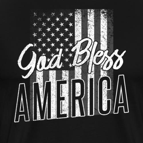 God Bless America Patriotic 4th of July - Männer Premium T-Shirt