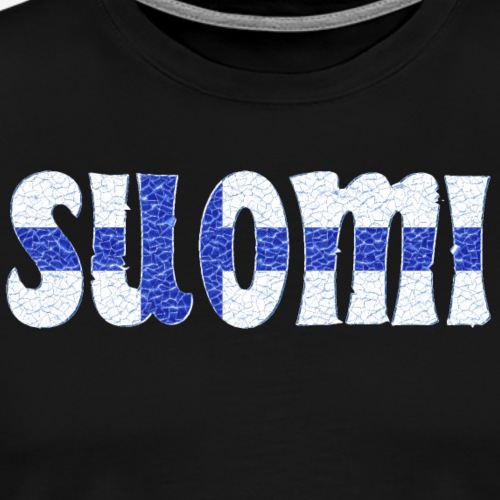 Finnish flag crystal - Men's Premium T-Shirt