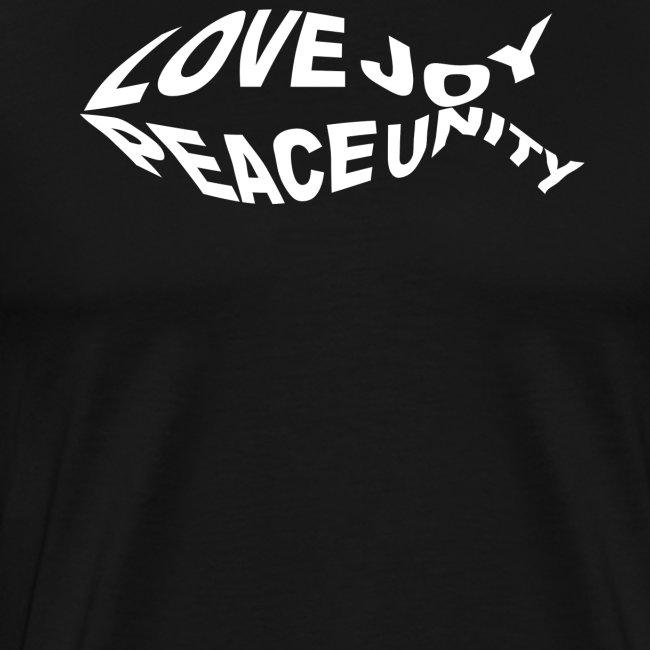 Jesus Fisch Liebe und Freiheit Christliches Tshirt