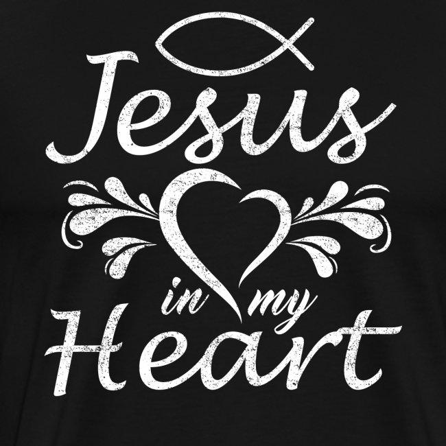 Jesus ist mein Herz Jesus Fisch
