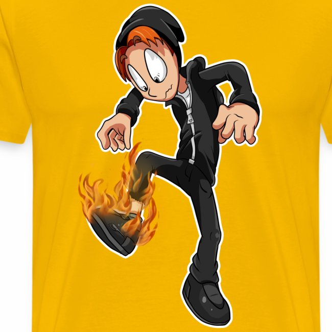 Flaming shoe