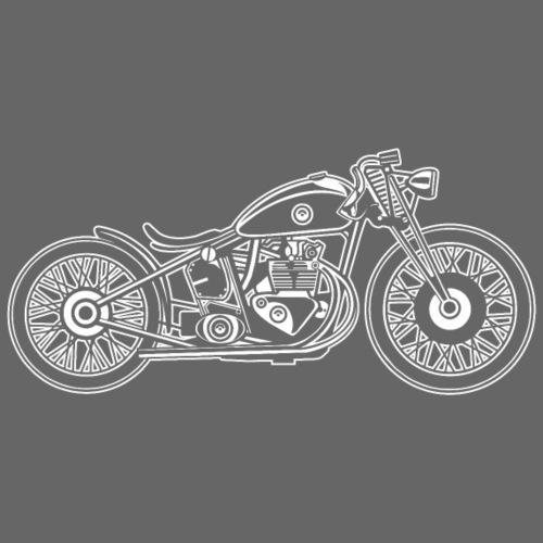 Chopper / Bobber Motorrad 09_weiß - Männer Premium T-Shirt