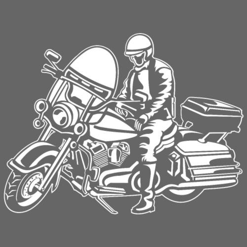 Chopper / Motorrad 05_weiß - Männer Premium T-Shirt