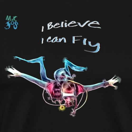 fly: night dive - Men's Premium T-Shirt