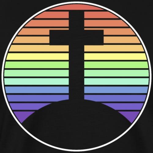 Jesus Kreuz Regenbogen - Männer Premium T-Shirt