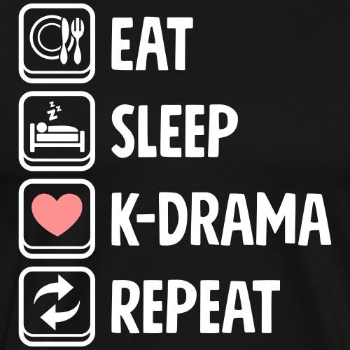 Cute Kawaii Eat Sleep KDrama Repeat - Männer Premium T-Shirt