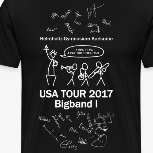 USA Tour mit Unterschriften - Männer Premium T-Shirt