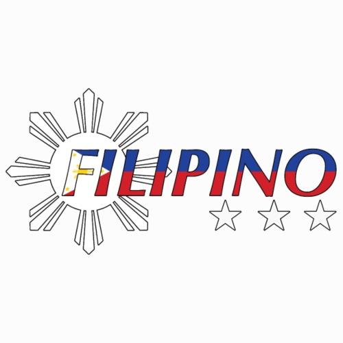 Filipino Flag Print Sun And Stars Bright - Männer Premium T-Shirt