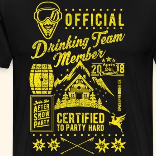 Après Ski Drinking Team Member - das Original - Männer Premium T-Shirt