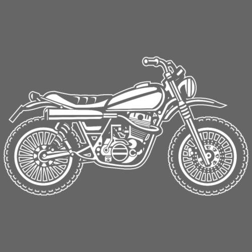 Motocross Enduro Motorrad 01_weiß - Männer Premium T-Shirt