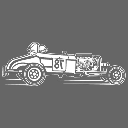 Hot Rod / Rat Rod 01_weiß - Männer Premium T-Shirt