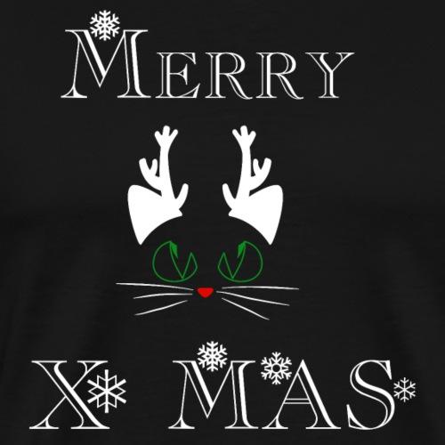 Merry Christmas Katze Renntier. Weihnachten