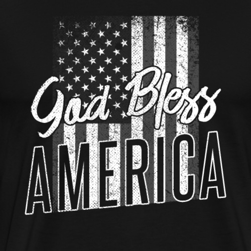 God Bless America Patriotic 4th of July - Männer Premium T-Shirt