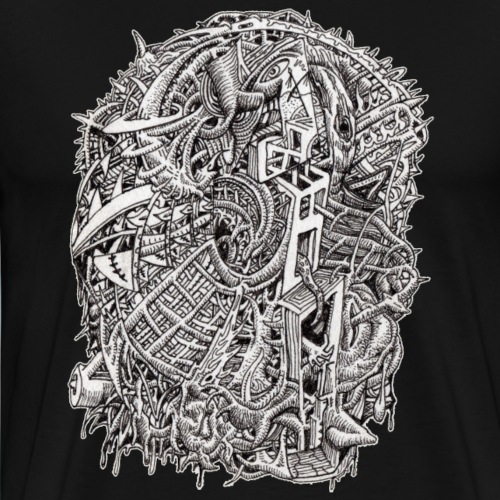 Weirdhead by Brian Benson - Men's Premium T-Shirt