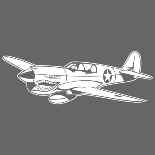 Jagdflugzeug / Kampfflieger Warhawk 02_weiß - Männer Premium T-Shirt