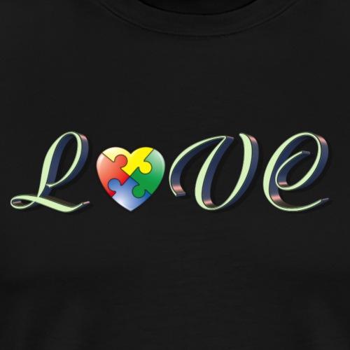 Love autism - Herre premium T-shirt