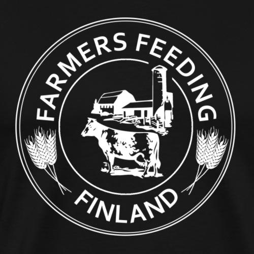 Farmers Feeding Finland - Miesten premium t-paita