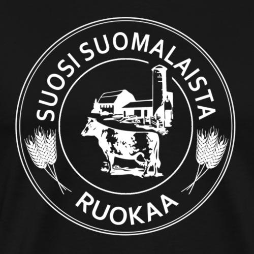 Suosi suomalaista ruokaa - Miesten premium t-paita