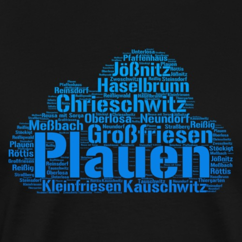 Plauen Stadtteile - Männer Premium T-Shirt