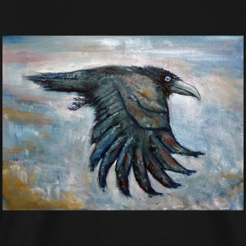 Flying Crow - Miesten premium t-paita