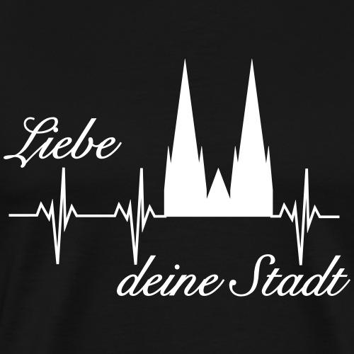 Köln Herzschlag - Männer Premium T-Shirt