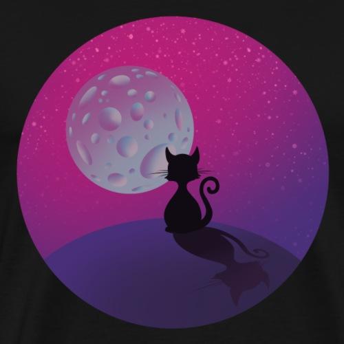 Katze und der Mond - Männer Premium T-Shirt