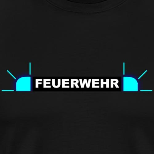 Feuerwehr - Blaulicht - Männer Premium T-Shirt