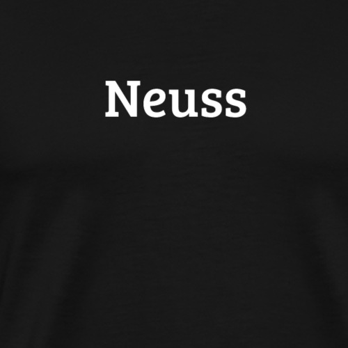 Neuss (Bree Serif/weiß) - Männer Premium T-Shirt
