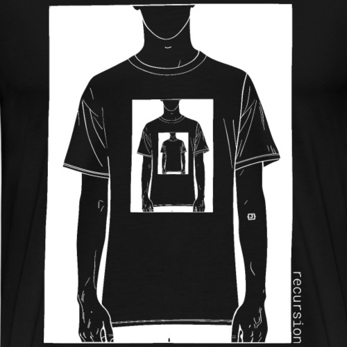 Recursion inverted | Geek | Art | Loop | - Mannen Premium T-shirt