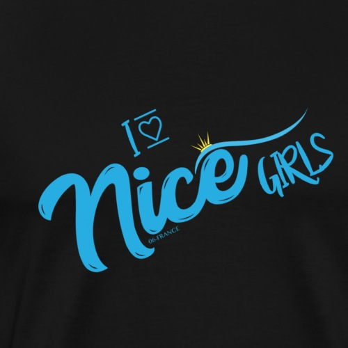 LOVE NICE GIRLS - T-shirt Premium Homme