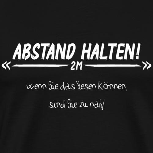 Abstand Halten - Männer Premium T-Shirt
