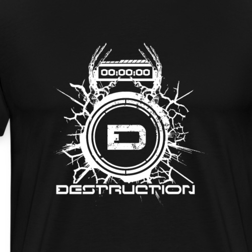 DESTRUCTIONRECORDS LOGO - T-shirt Premium Homme