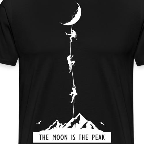 the moon is the peak - Men's Premium T-Shirt