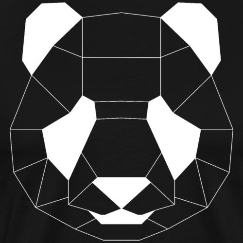 Panda Geometrisch weiss - Männer Premium T-Shirt