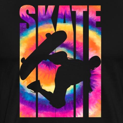 Skateboarding Rainbow Tie Dye - Skate - Men's Premium T-Shirt